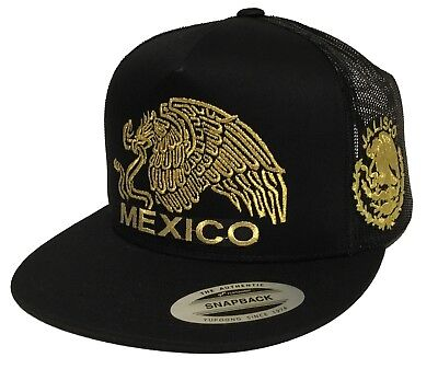 Gorra Media Aguila Jalisco Mexico Snap Back Trucker Hat Mesh Adjustable