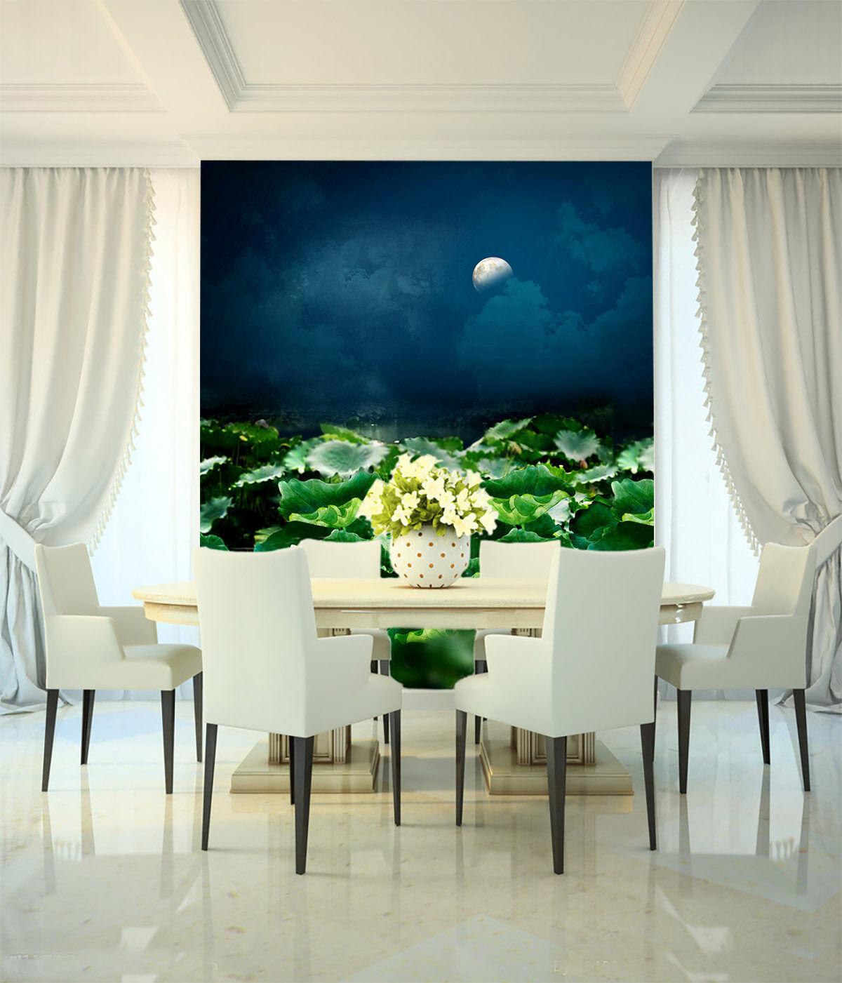 3D Lotus Teich Tang dynastie Fototapeten Wandbild Fototapete BildTapete Familie