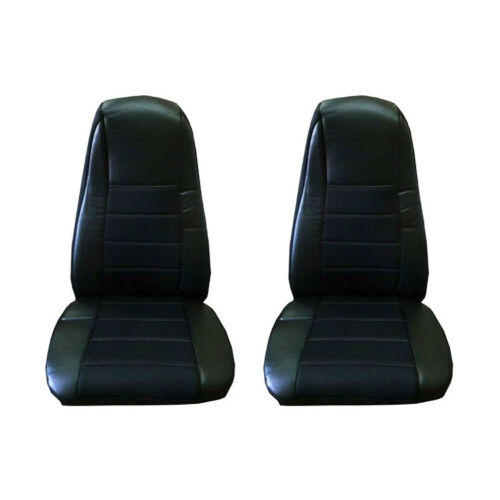 Phenomenal Details About Seat Covers Pair W Pocket Black Faux Leather Peterbilt Freightliner Semi Truck Ocoug Best Dining Table And Chair Ideas Images Ocougorg