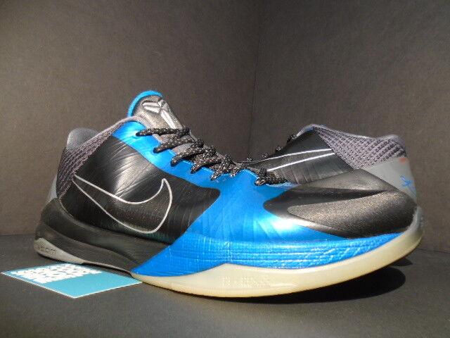 2018 Nike Zoom Kobe V 5 Plata Dark Knight Negro Gris Plata 5 Neptuno Azul 386429-001 13 el último descuento zapatos para hombres y mujeres 6fc6e1
