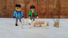 Playmobil Figuren und Zubehör aus Set 5344 Kleintierstand Nostalgie Puppenhaus