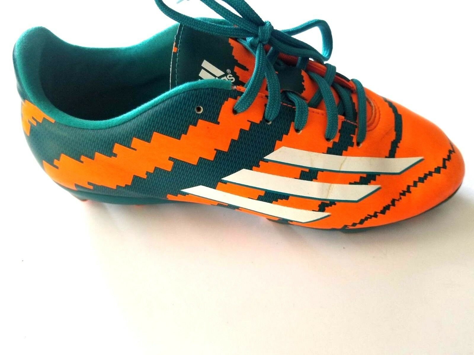 Adidas Athletic Soccer Sneaker Orange Green Shoes Mens Comfortable best-selling model of the brand