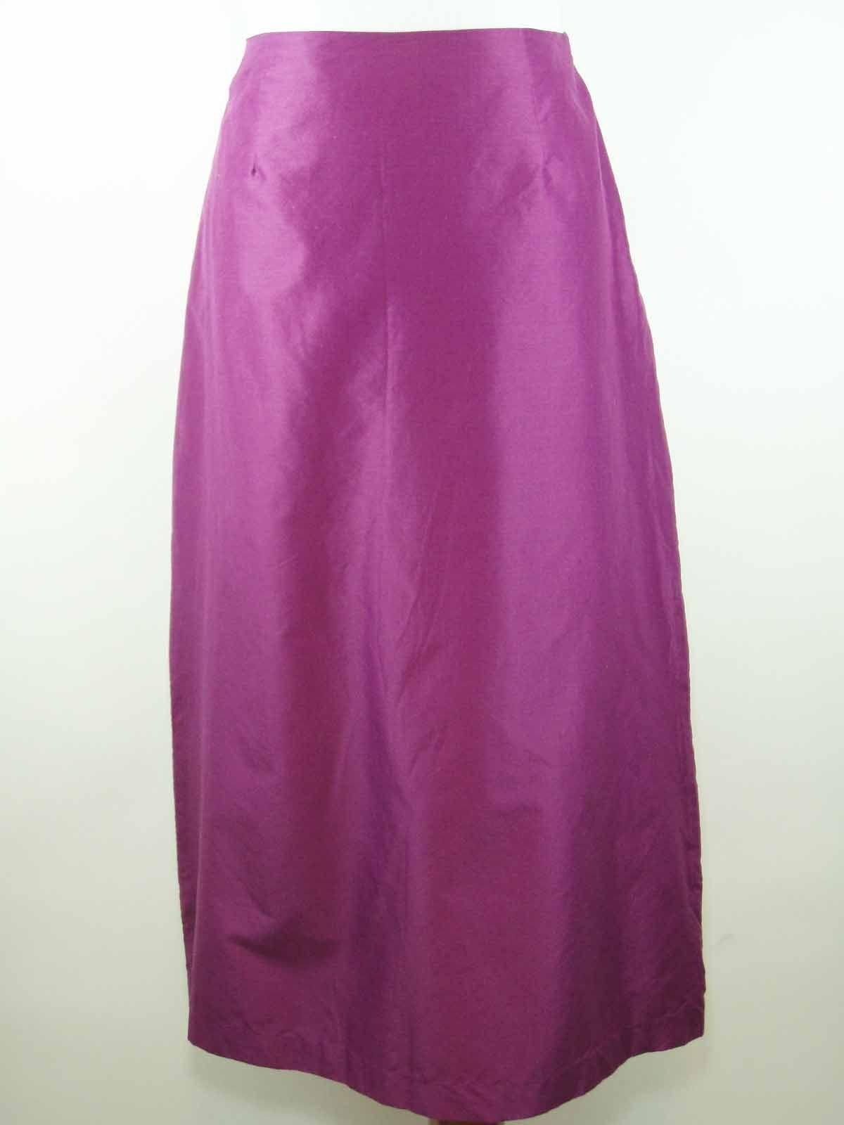 Ann Taylor Purple Long A Line Skirt - Cotton Blend Size 8 - NEW w  Tag