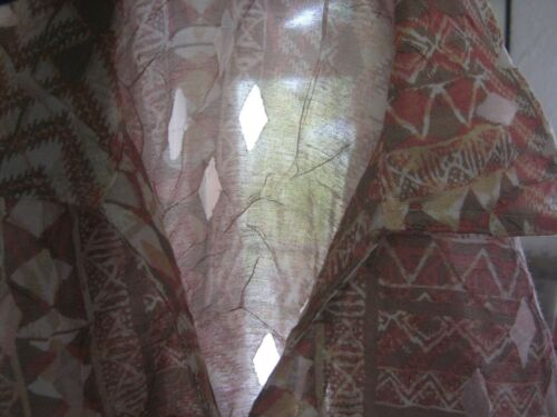 Women's Blouse Rd Ruby New Print Tribal Nwt Burnout Shirt Size 8 Sheer RAd6q