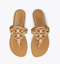 Tory-Burch-NEW-Miller-Sand-Patent-Leather-Flat-Thong-Sandals-SIZES-6-to-10-5 thumbnail 5
