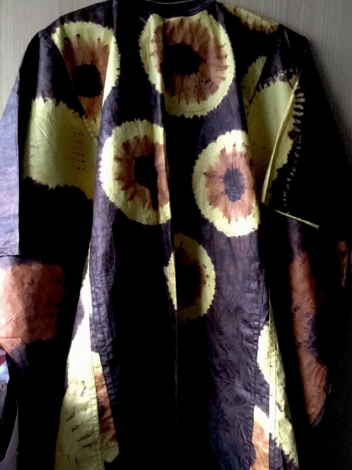 African Tye and Dye Danshiki ~ Brand New~Yellow Mix~Fast P&P!