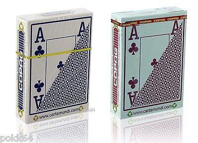 Jeu de 54 cartes Poker FOURNIER 2800 100/% PLASTIQUE Bleu ou Rouge Jumbo 351786
