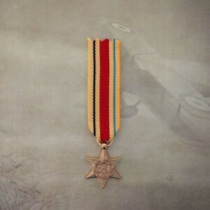 AFRICA-STAR-MEDAL-GOLD-TONE-WWII-MINIATURE-ARMY-AUSTRALIA-WAR