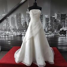 Magnificent Sequin Gown with Train (Ivory-Size 10) Wedding, RRP £500+