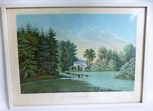 Th-Presuhn-Oldenburg-034-Der-Schlossgarten-um-1845-034-Teepavillion-Kunstdruck