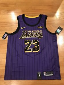 Lebron James  23 City Edition Nike Lakers Swingman Jersey Men s X ... 634e41647