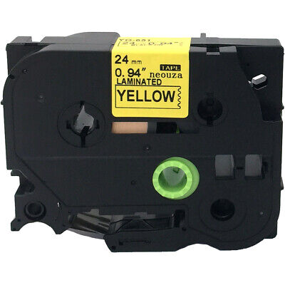 Black on yellow Label Tape Compatible for Brother TZ TZe S611 TzeS611 Tze611