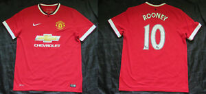 Image is loading WAYNE-ROONEY-10-MANCHESTER-UNITED-home-jersey-shirt- f3d6f8e12