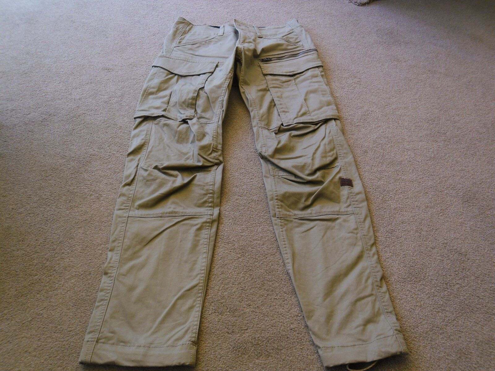Mens gstar Beige Combat Trousers - Size 28 32