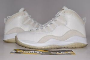 size 40 aff58 2b40d Image is loading Nike-Air-Jordan-10-Retro-OVO-White-Style-