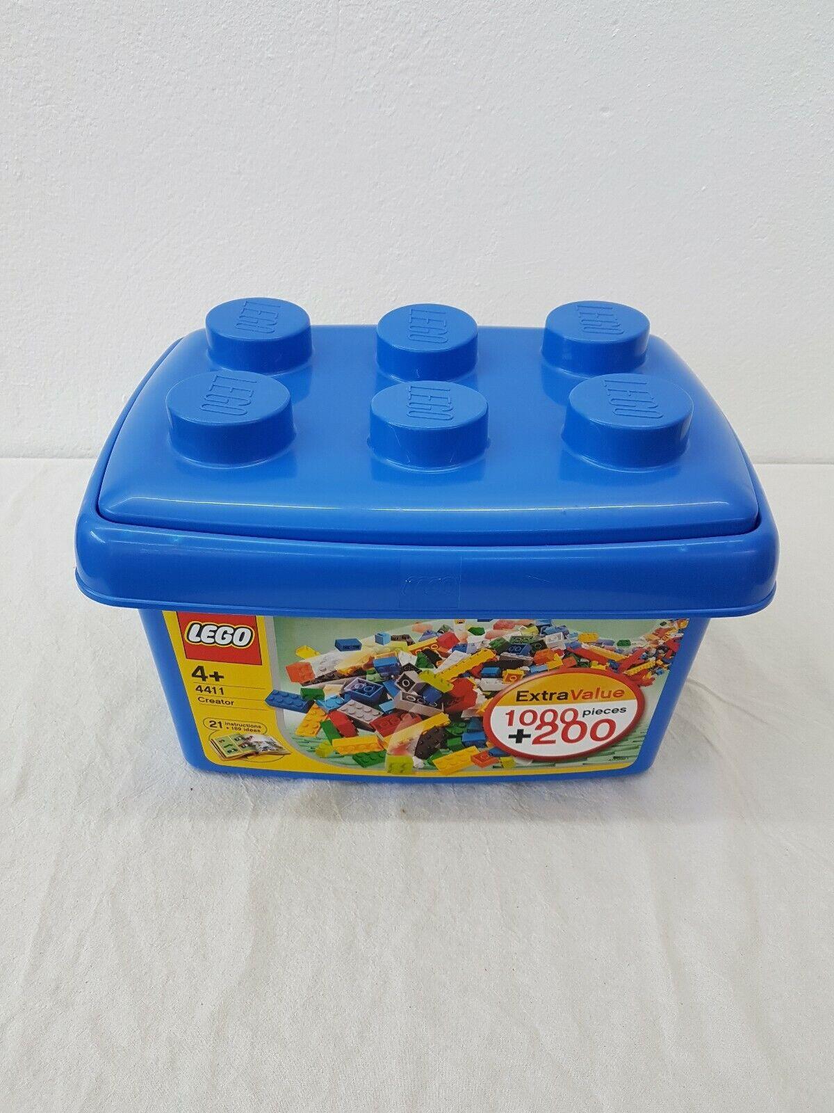 Lego 4411 Steine Box Blau Rarität Basissteine