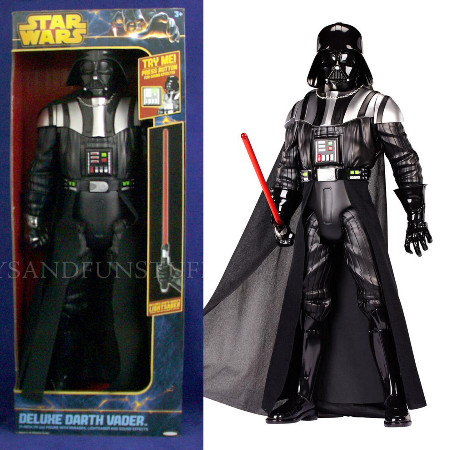 New - 31  DARTH VADER Deluxe Figure WITH LIGHTSABER - Sound Effects TALKS - New