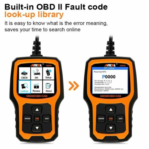 Hyundai Santa Fe OBD2 Car Diagnostic Tool Erase Fault Code Reader Scanner AD410