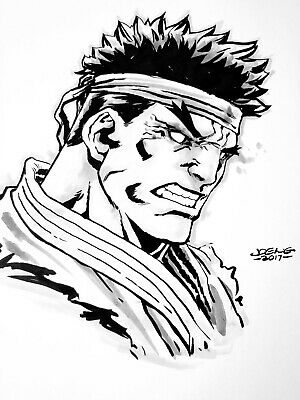 Joe Ng Evil Ryu Original Sketch Art Street Fighter Ebay