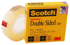 SCOTCH SCT665  DOUBLE SIDED TAPE REFILL 1 2X900