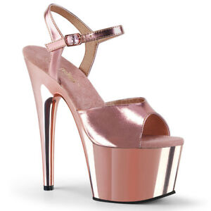 Adore Sandals Pole Platform Pleaser 709 Shoes Gold Rose Metallic Dancing SAfqHZAx
