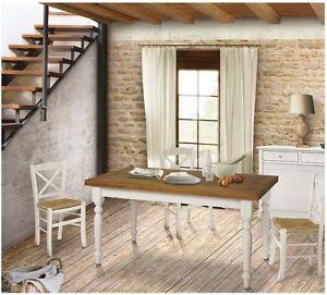 Sedie laccate bianche sedile paglia cucina rustiche for Sedie bianche per cucina