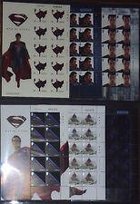 Superman Man of Steel (2013) sellos de JERSEY conjunto completo de 6 Hojas Nuevo inusual estampillada sin montar o nunca montada