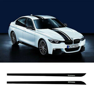 Jupe-Seuil-Autocollant-Bande-Lateral-2-Pieces-M-PERFORMANCE-pour-BMW-Serie-3-F30