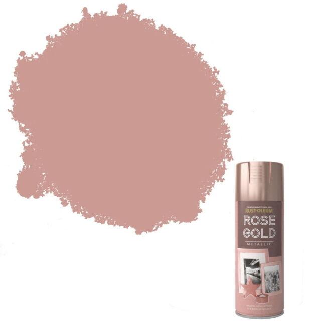Rust Oleum Metallic Finish Spray Paint Rose Gold 400ml