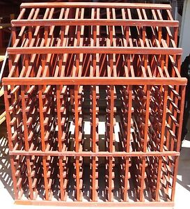 320 Bottle Red Wood Stained Wooden Wine