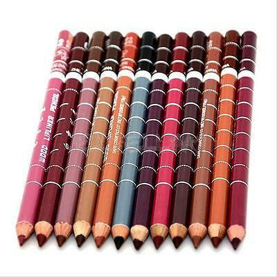12 PCS Lot Colors Professional Lipliner Waterproof Lip Liner Pencil Lipstick KIT