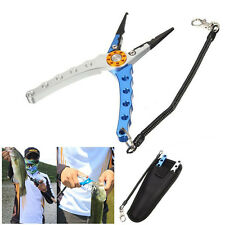 """7.9"""" Aluminum Alloy Fishing Plier Split Ring Cutters Hook Remover Tackle"""