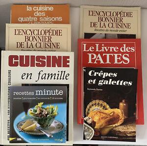 Livres De Cuisine En Lot