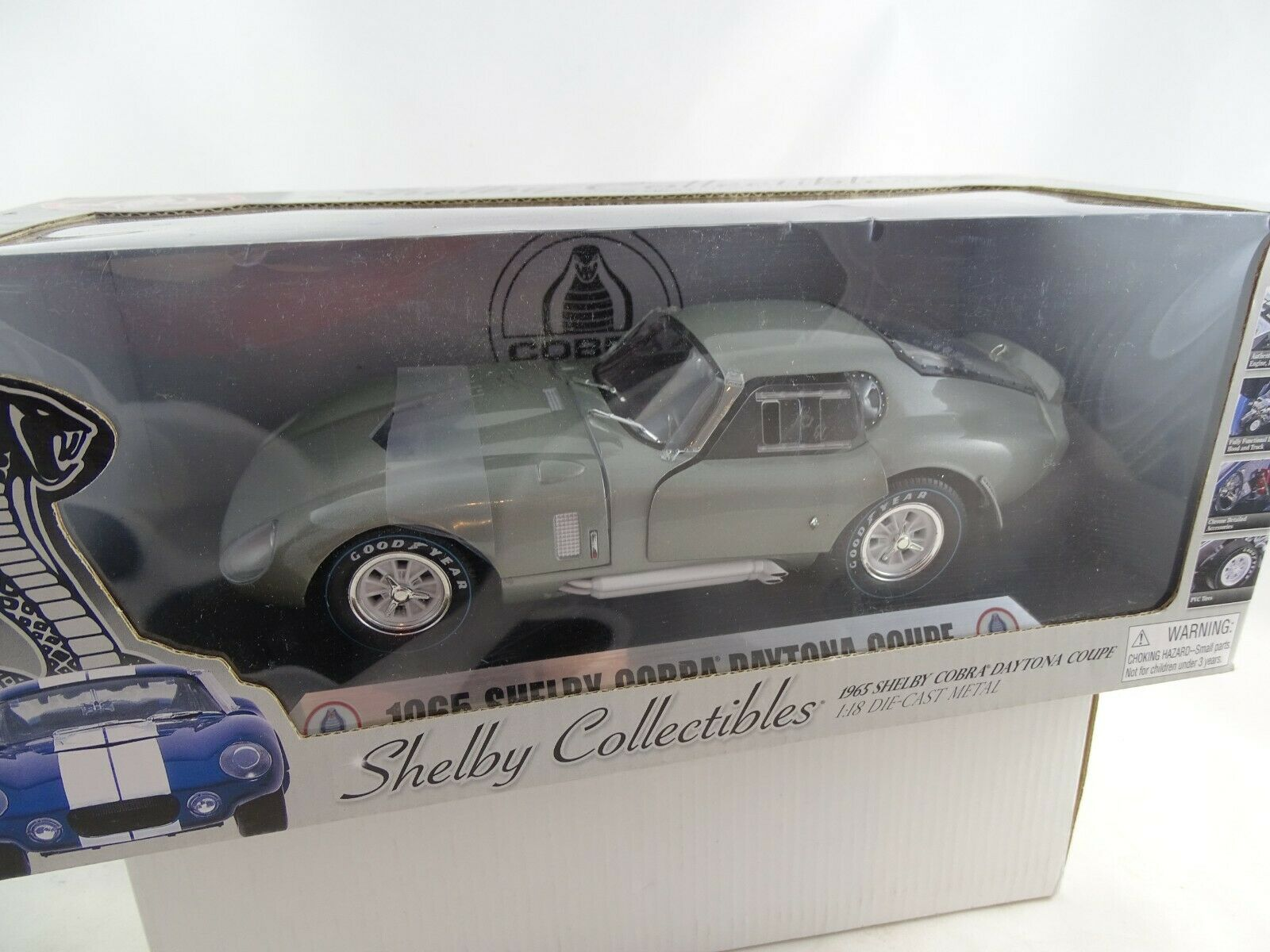 1 18 Shelby Collectibles  dc28903 1965 Shelby Cobra Daytona Coupe GRIGIO
