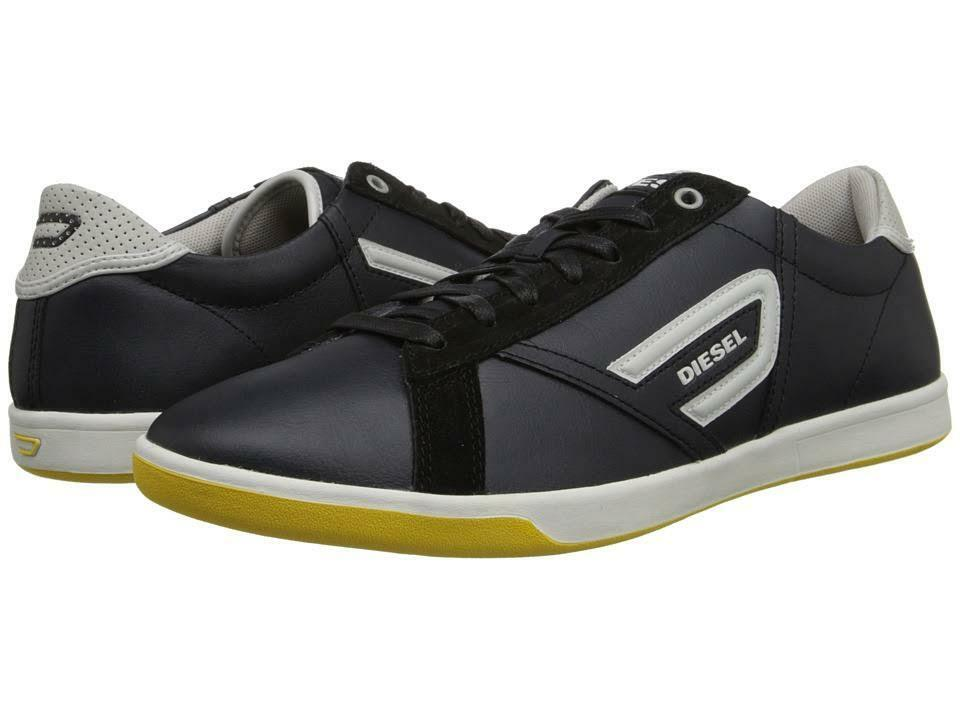 DIESEL Y01034 P0577 H5561 GRANTOR LOW Mn's (M) Black Stone Leather Casual shoes