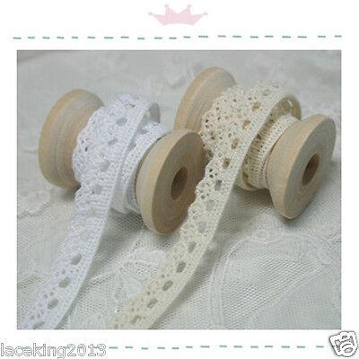 """Torchon knit lace Crochet Trim 0.5""""(1.2cm) white YH Tinywheel laceking2013"""