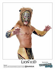 Official Dragon Gate - Lion Kid 2014 Hand Signed 8x10 Picture