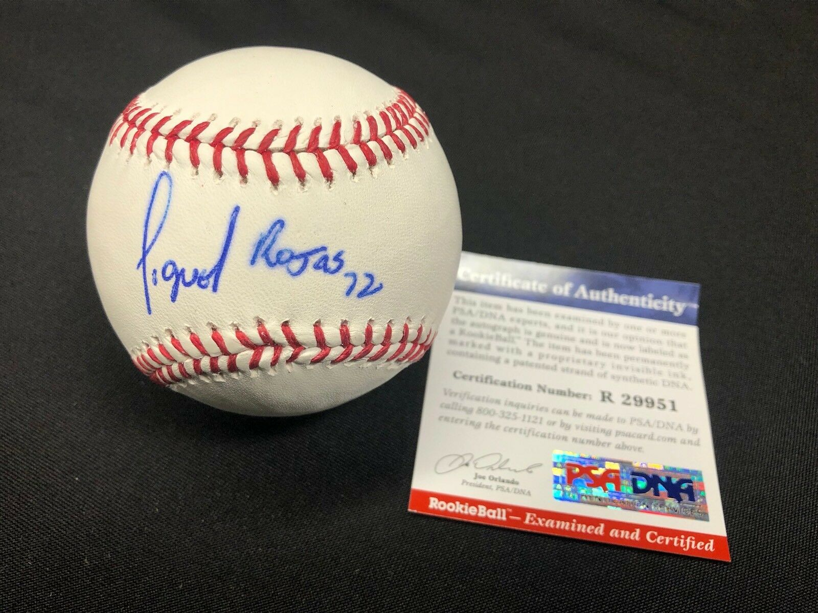 Miguel Rojas Signed Major League Baseball MLB *Dodgers Rookie Graph PSA R29951