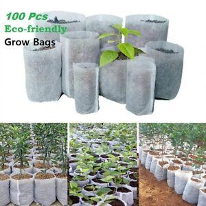 100Pcs Biodegradable Non-woven Nursery Seedling Pots Eco-Friendly Plant Growing