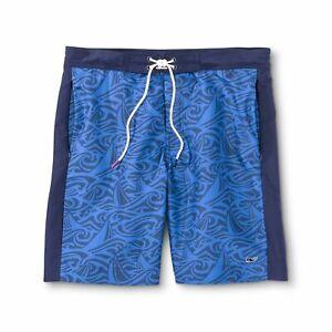 Vineyard-Vines-for-Target-Men-s-Rough-Seas-Board-Shorts-Blue-Size-XXL-2XL-NWT