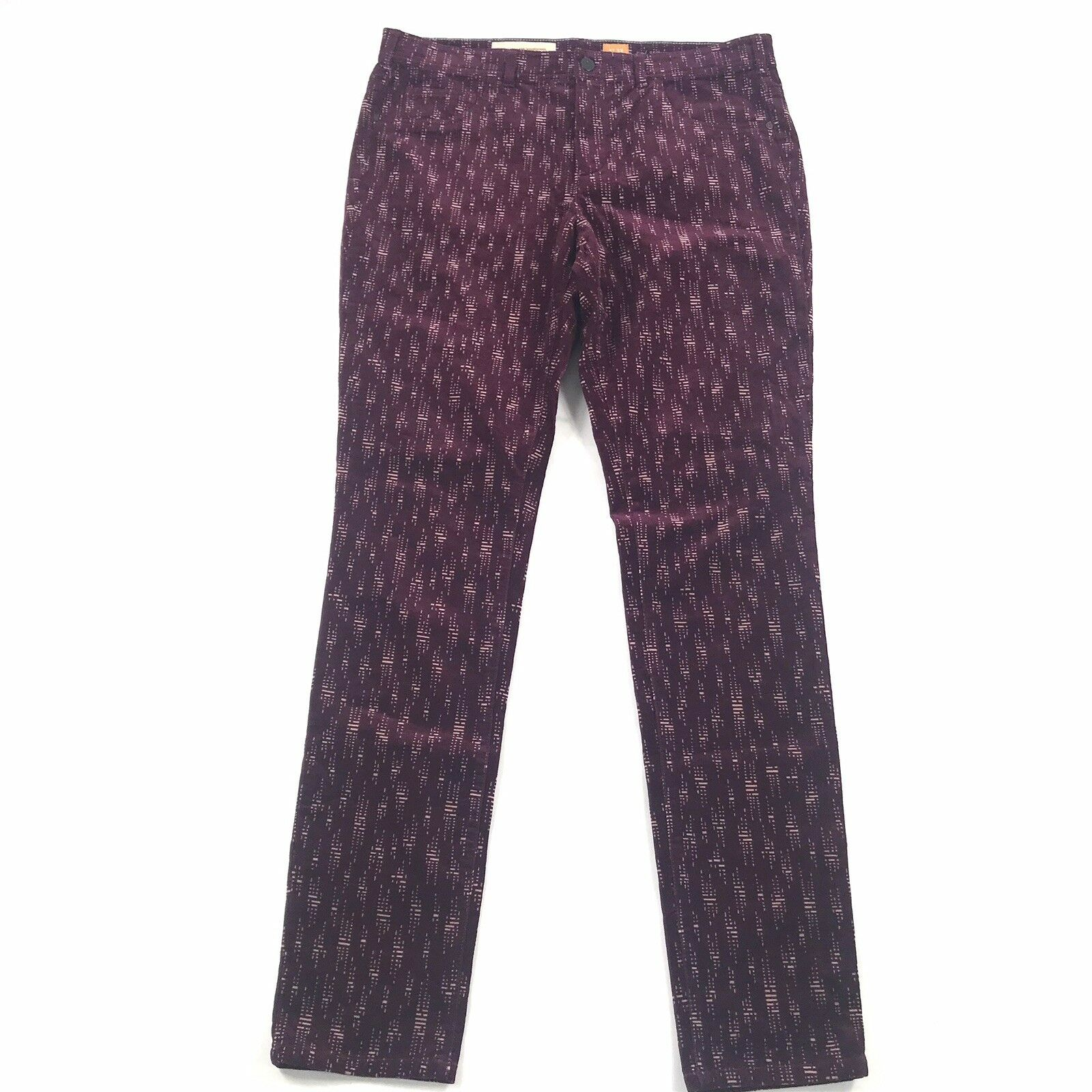 Pilcro & The Letterpress Womens Serif Corduroy Pants Sz 32 Printed Anthropologie