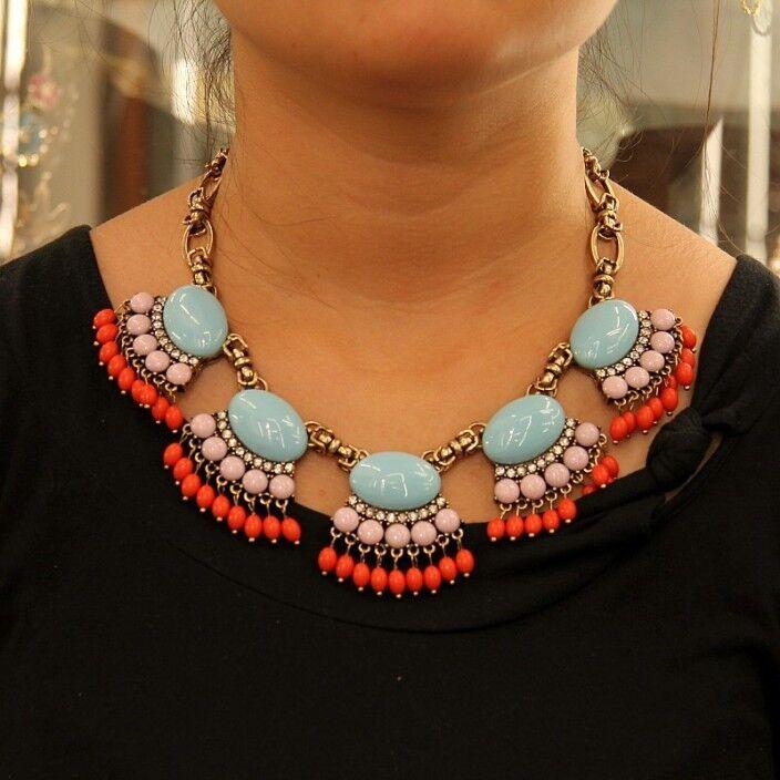 Collier Femme blue pink Style Moderne Boheme été Soirée Mariage Joli JCR 10