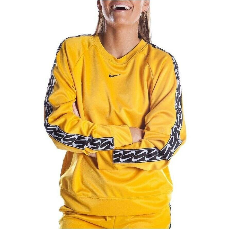 Nike damen Sportswear Logo Crew Gelb Graphic Bright Active Wear BV3443-743