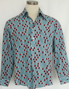 Retro-1970s-Men-s-JC-Penny-Long-Sleeve-Shirt-Size-L-16-16-M