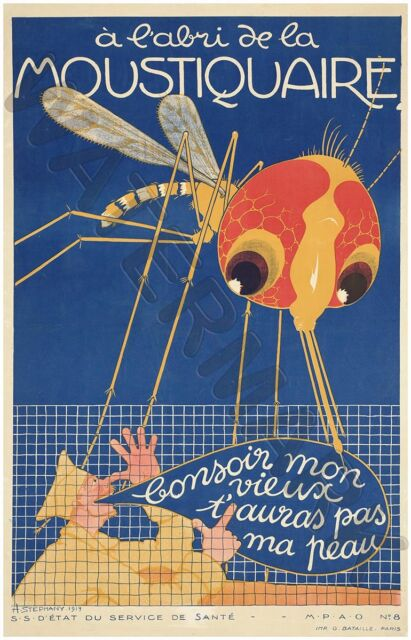 MOSQUITO ATTACKS SOLDIER GIANT WALL POSTER ART PRINT LLF0562