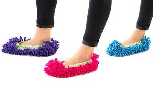 MOP-SLIPPERS-Cleaning-Floor-Microfibre-Dust-Duster-FLOOR-POLISHING-New-Shoe-Sock