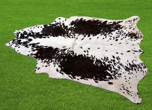 "New Cowhide Rugs Area Cow Skin Leather 12.46 sq.feet (46""x39"") Cow hide U-5077"