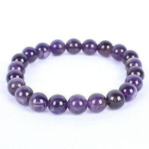 Anxiety-Relief-amp-Reiki-Healing-Amethyst-Stone-Beaded-7-8-039-039-Elasticated-Bracelet