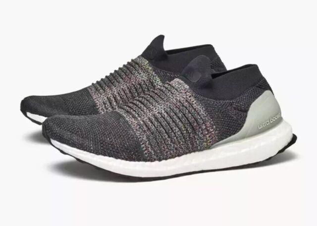 426a9ec284b8e Adidas Ultra Boost Laceless Mid Men s Size 14 Black Grey CM8267 Primeknit  NEW