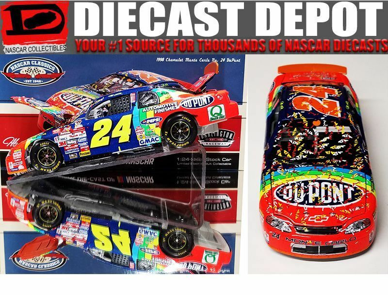 JEFF GORDON 1998 DARLINGTON WIN RACED VERSION DUPONT REFINISHES 1 24 ACTION